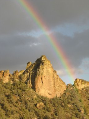 Rainbow Over Coyote Rock