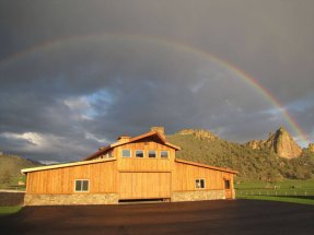 Rainbow over Barn